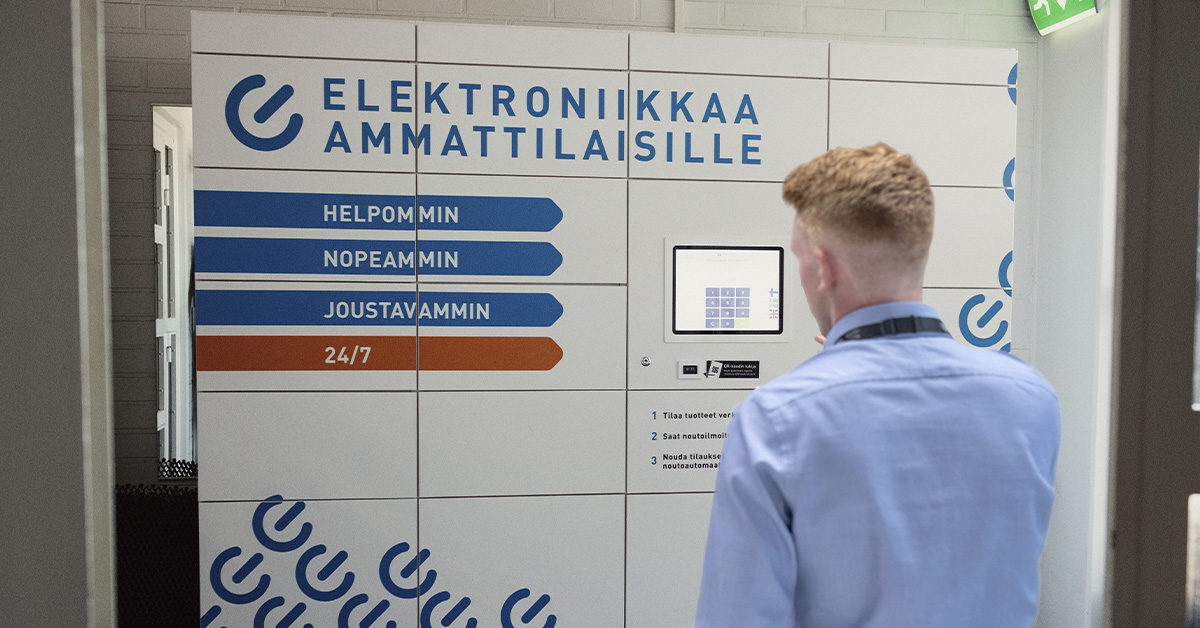 Yleiselektroniikka-nouto-automaatti