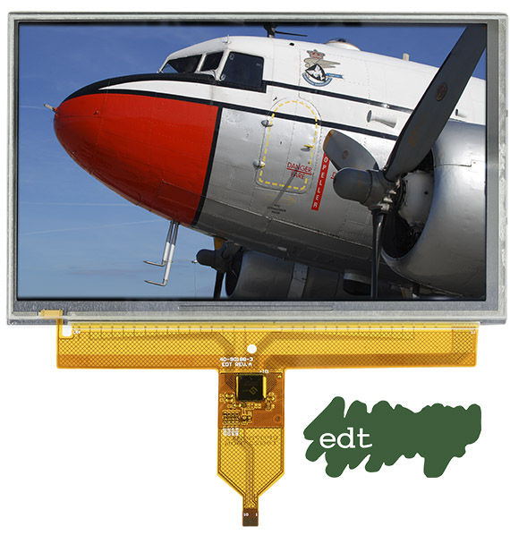 Näyttöpaneeli jonka kuvassa on lentokone